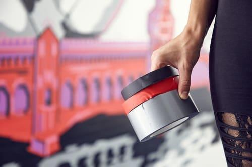 Tape Art Mural   Murals by Fabifa   Dämmisol Materials GmbH in Berlin