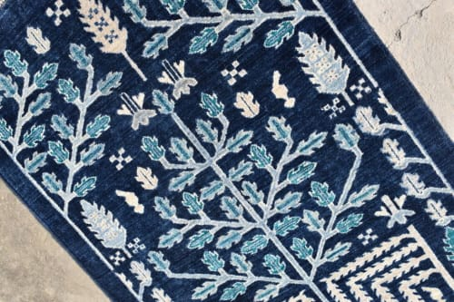 Rugs by Qadimi - Origins in Indigo Runner