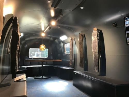 Interior Design by Zachary Pulman Design Studio seen at Creator's Studio, London - Snake & Dagger Airstream