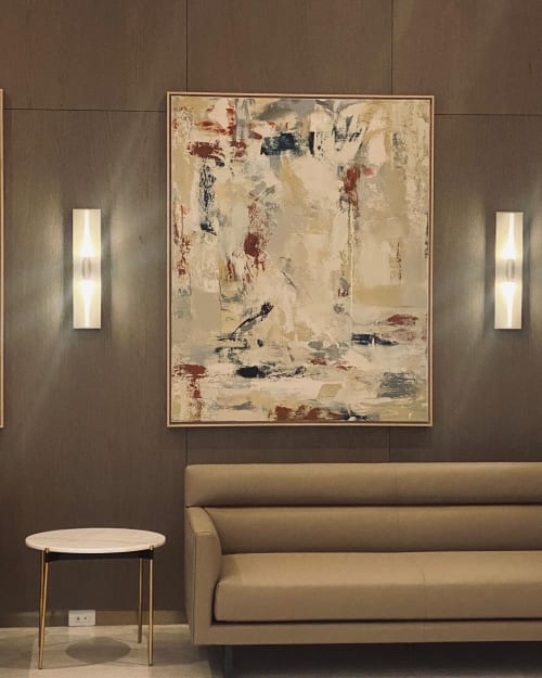 Paintings by Alice Lipping seen at Skyline Tower, Queens - 2 Commissioned Paintings 2021