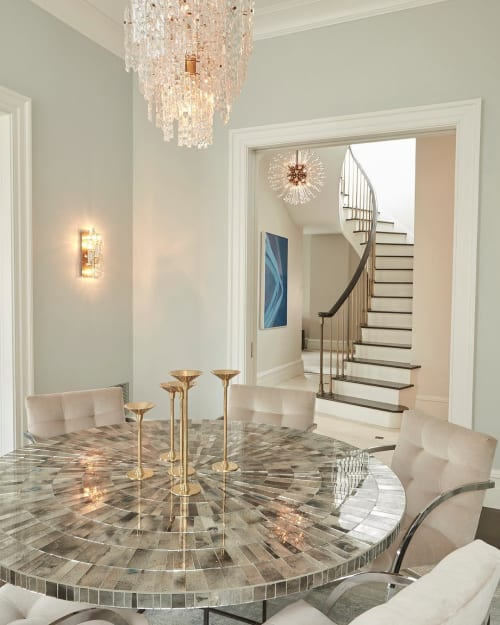 Tables by Ercole seen at Private Residence, New York - Round Dining Table