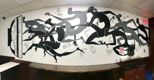 Murals by Daren Lin 大任物 seen at Foody's Dumpling, New York - Dumplings