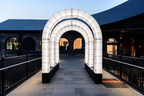 Public Sculptures by Studio Mieke Meijer seen at Coal Drops Yard, London - Space Frames