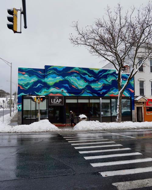 Street Murals by Ben Keller Art seen at 729 Main St, Windham - Resilient Waters