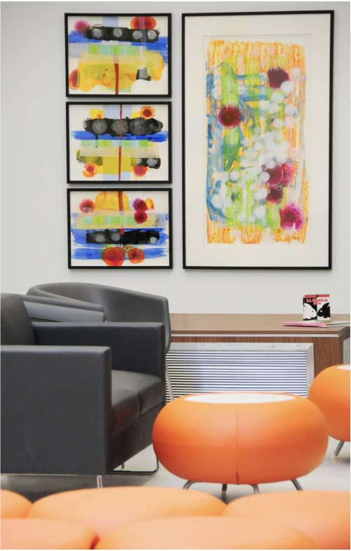 Paintings by Mary Zeran seen at Eastern Iowa Health Center, Cedar Rapids - Eastern Iowa Health Center Lobby