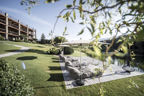Architecture by noa* network of architecture seen at Hotel Seehof - Nature Retreat, Bressanone - Seehof: a garden architecture