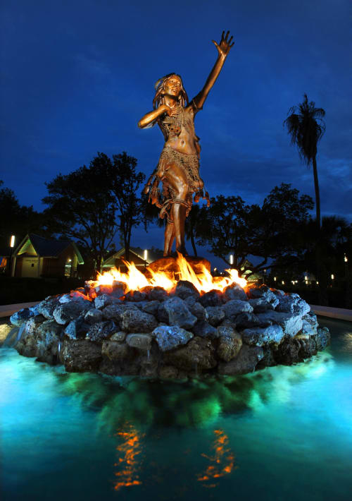 Sculptures by Vala Ola seen at Tampa, Tampa - Ulele
