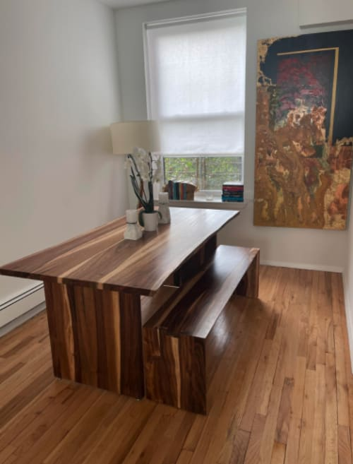 Kali Weru Dining Table + Bench   Tables by From the Source