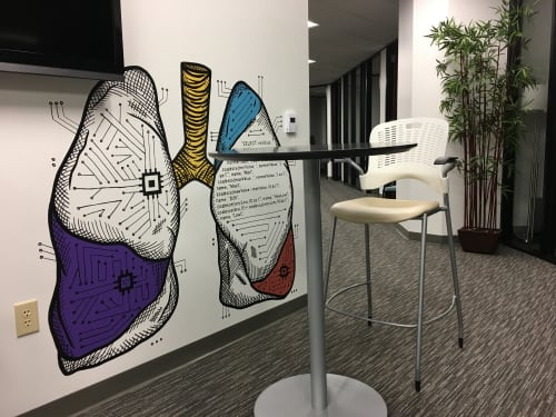 Murals by Avery Orendorf at Iodine Software LLC, Austin - Software for Your Health