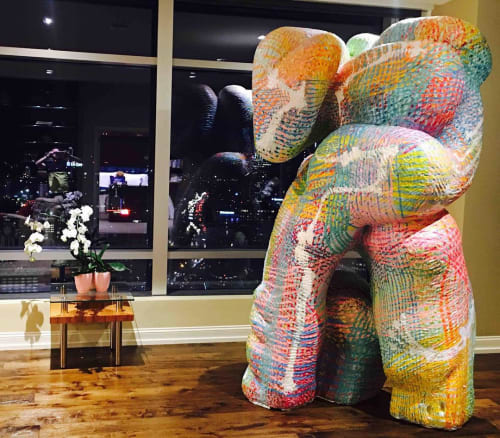 Sculptures by Cybele Rowe seen at The Ritz-Carlton, Los Angeles, Los Angeles - Love Armada