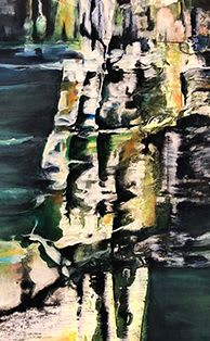 """Paintings by Monika Wright seen at Private Residence, Upper Tantallon - """"Imagine The Journey"""" - 36""""x48"""""""