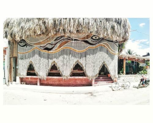 Art Curation by Mikrama seen at Holbox, Holbox - Goliat is the name of this Giant macrame tapestry located in a beautifull island in Quintana roo Mexico called Holbox