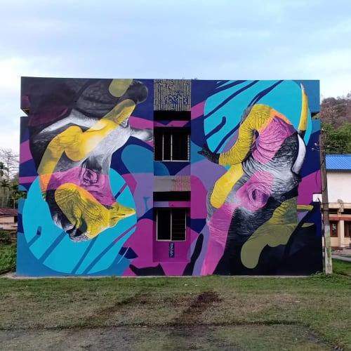 Murals by H11235 seen at Assam Forest School, Guwahati - Wall Mural
