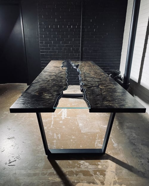 Quilted Maple Ebonized River Table | Tables by Live Edge Lust