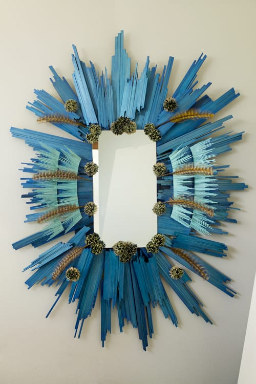 Art & Wall Decor by Denise Prince seen at Private Residence, West Lake Hills - Handcrafted Mirror