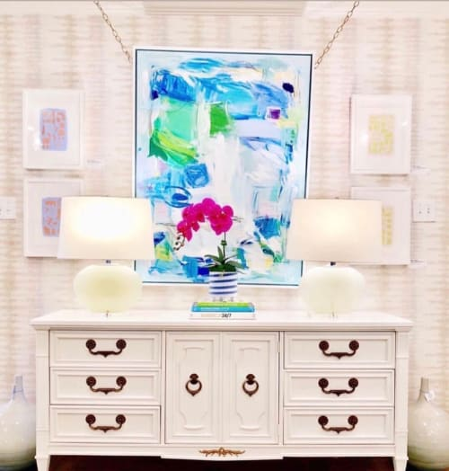 """Paintings by Erin Donahue Tice Fine Art seen at Dallas, Dallas - """"Lily Pads"""""""