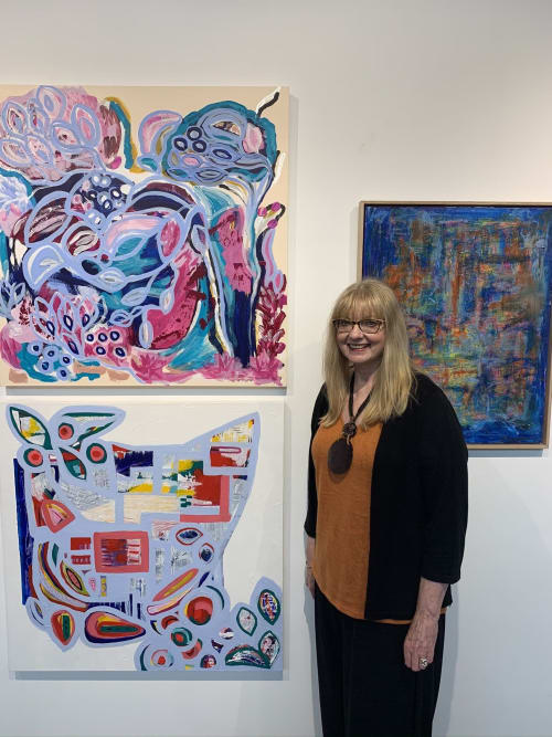 Paintings by Myra Carter seen at 345Art Creative, Mont Albert - Abstract Painting