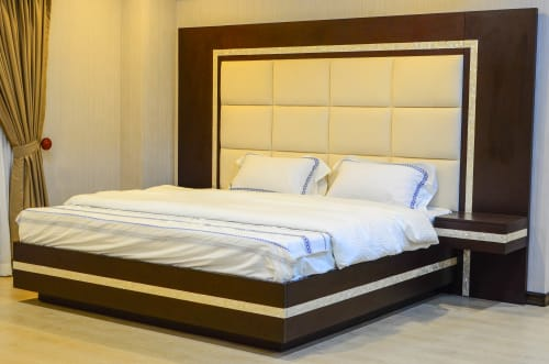 Beds & Accessories by MURILLO Cebu seen at Private Residence - Custom-made Bed with Floating Bedside Tables