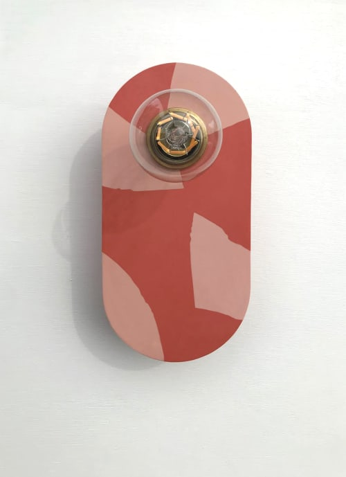 Sconces by What The Mood seen at Private Residence, Bristol - Tutti Frutti - Grapefruit   Coral & Pink Brass Wall Light
