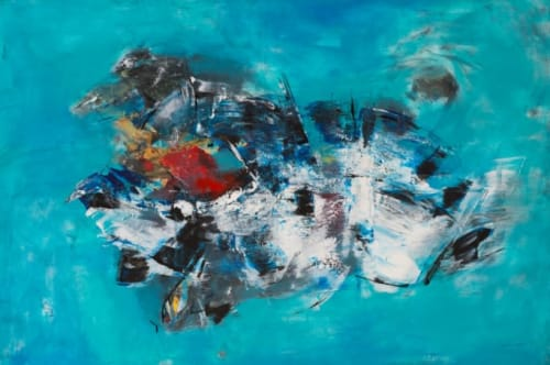 Paintings by Maria Bacha seen at Private Residence, Athens - Confusion