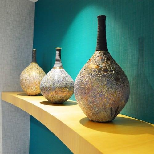 Vases & Vessels by Steven Forbes-deSoule seen at Delta Community Credit Union, Atlanta - Raku Jars
