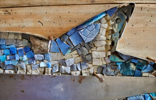 Public Mosaics by Rossella Casadio seen at Maltraversi, Arzignano - Barracuda