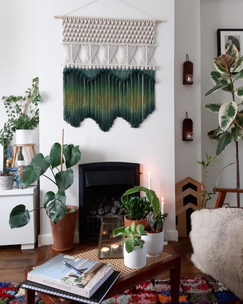 Macrame Wall Hanging by The Macrame Man seen at Private Residence, Dublin - Macrame Wall Hanging - Green