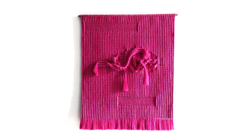 Macrame Wall Hanging by Fiber Motel by Janet Jane seen at Private Residence, Jakarta - Neon Pink Macrame