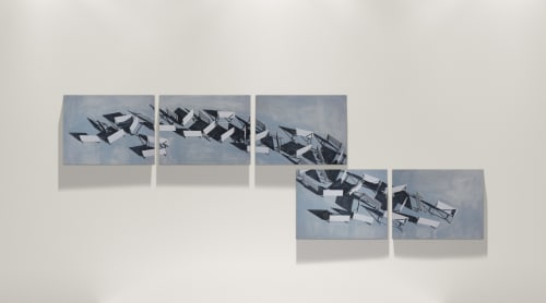 Paintings by Jorge Wellesley seen at Private Residence, Madrid - The Damn Circumstances of Politics is Everywhere II