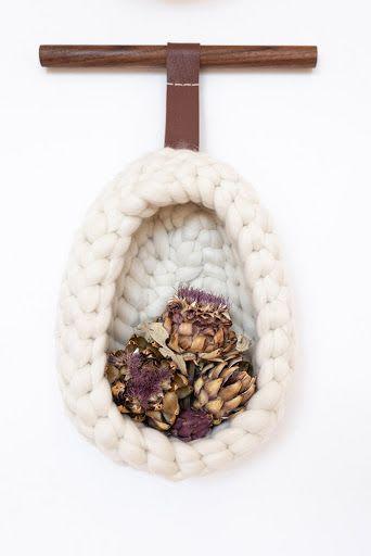 Nest   Wall Hangings by Keyaiira   leather + fiber