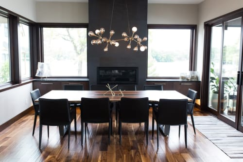 Tables by Stockton Heritage seen at Private Residence, Minneapolis - Polusny Dining Table
