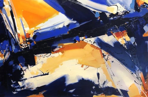 Paintings by Michael Mckee seen at Private Residence, Scottsdale - Rhapsody in Blue