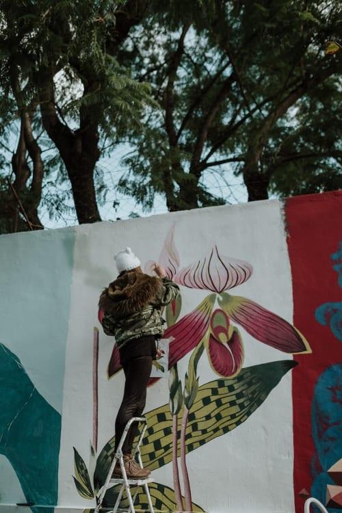 Orquídea Buenos Aires | Street Murals by La Rivera Ilustrada