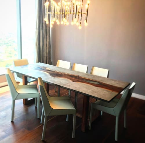 Tables by Koppen Woodworks seen at Private Residence, Cleveland - The Carabelli