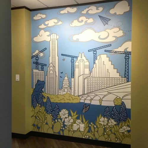 Murals by Avery Orendorf at Austin, Austin - Austin Skyline