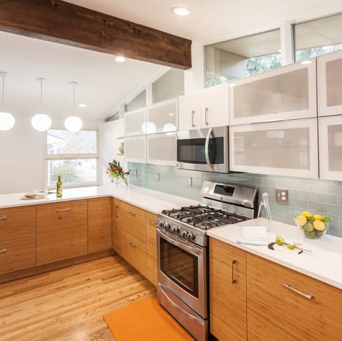 Interior Design by Exactly. seen at Private Residence, Ann Arbor - Midcentury Modern Kitchen