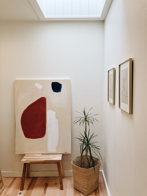 Paintings by Cait Courneya seen at GRAY Home + Lifestyle, Excelsior - Fall Shapes Paintings