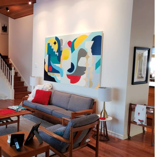 Paintings by Nasarimba seen at Private Residence, Calgary - Automatic Composition No. 1