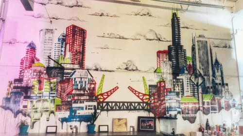 Murals by Ursula Barton seen at Sammich PDX, Portland - Sammich PDX Mural