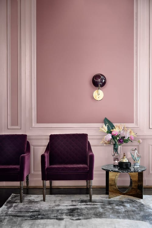 Sconces by Marie Burgos Design seen at Private Residence, New York - BALLROOM THE WALL LIGHT SHORT PURPLE