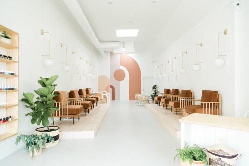 Interior Design by Solstice Interiors seen at Leo-Nails Wellness Massage, San Diego - Leo Nails & Wellness Spa