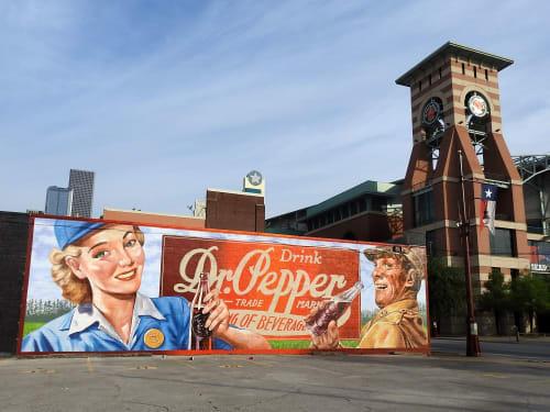 Street Murals by Anat Ronen seen at Houston, Houston - Dr Pepper - Core murals