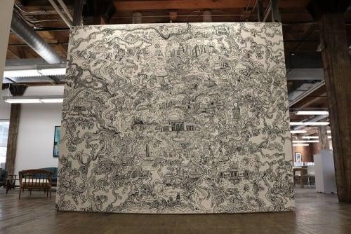 Murals by Doodle Dood LLC seen at Opus Group, Kansas City - Interior Mural