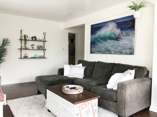 Paintings by Lindsay Rapp seen at Private Residence, Laguna Beach - Summer Wave
