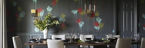 Wallpaper and Curtains & Drapes by Porter Teleo