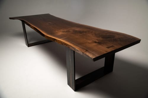 Tables by Wicked Mata seen at Private Residence - United Kingdom - American Black Walnut | Rare Single Slab
