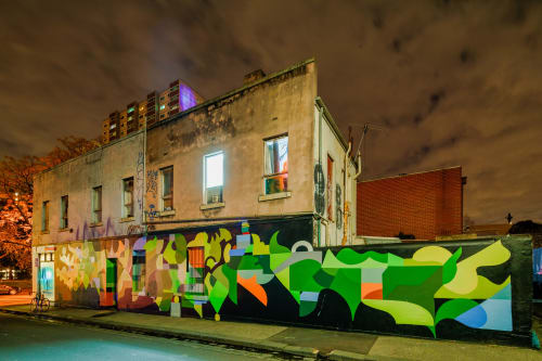 Street Murals by FIKARIS seen at Fitzroy, Fitzroy - Into Place
