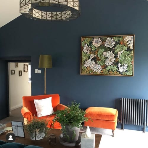 Art & Wall Decor by Adam Halls Art seen at Private Residence, Bristol - Lichen with orange