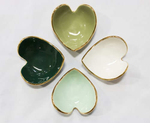 Apparel & Accessories by Susan Gordon Pottery seen at Susan Gordon Pottery Studio, Birmingham - Heart Ring Dish