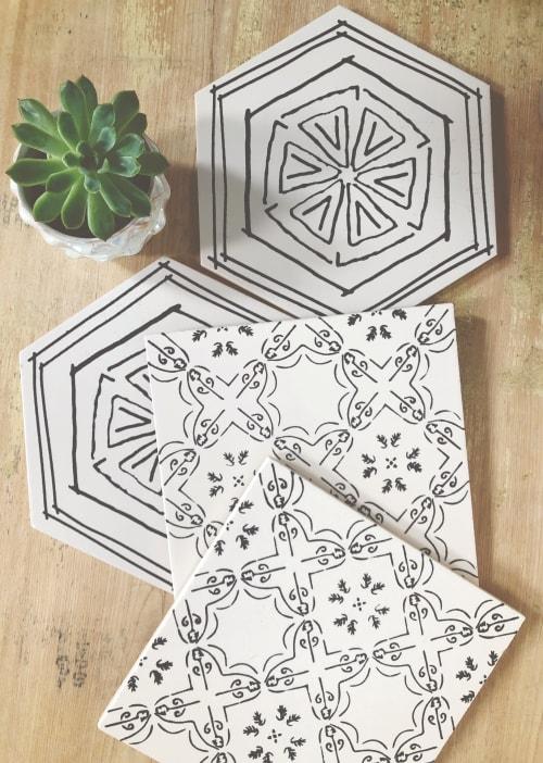 Tiles by Maple Jude & Co. seen at Santa Monica, Santa Monica - Squeeze & Bavel Ceramic Tiles